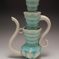 """Ice Fountain"" ceramic teapot by Sue McLeod, 2013"