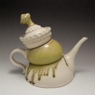 """Twee-pot"" ceramic teapot by Sue McLeod, 2013"