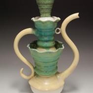"""O la Fuente"" ceramic teapot by Sue McLeod, 2010"