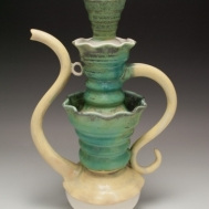 """O la Fuente"" ceramic teapot by Sue McLeod, 2010"
