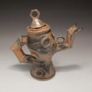 """""""If I Only Had a Heart"""" ceramic teapot by Sue McLeod, 2010"""