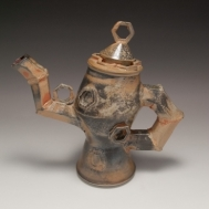 """If I Only Had a Heart"" ceramic teapot by Sue McLeod, 2010"