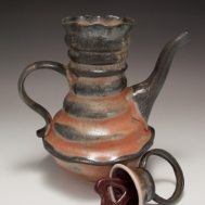 """O She Knows"" ceramic teapot by Sue McLeod, 2010"