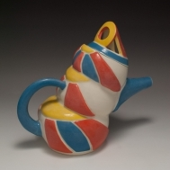 """Time I Will Never Get Back"" ceramic teapot by Sue McLeod, 2010"