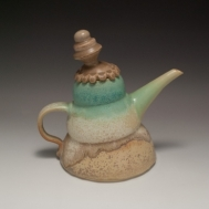 """Jolly Joy"" ceramic teapot by Sue McLeod, 2010"