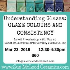 Understanding Glazes: Glaze Colours and Consistency – workshop Mar 23, 2019