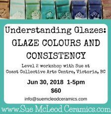Understanding Glazes: Glaze Colours and Consistency – workshop June 30, 2018