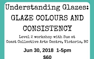 Understanding Glazes: Glaze Colours and Consistency – workshop June 30, 2018