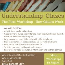 Understanding Glazes Workshop – Sept 9
