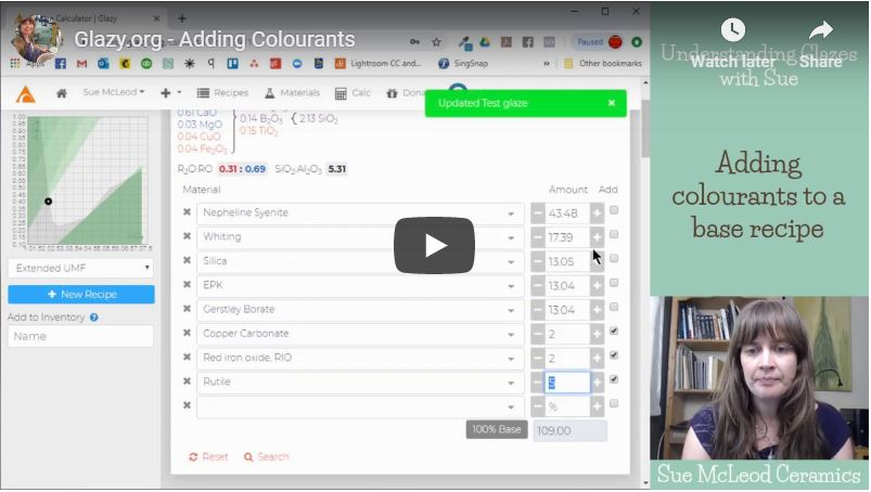 Adding Colourants in Glazy.org – Video Tutorial