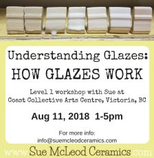 Understanding Glazes: How Glazes Work – workshop Aug 11, 2018