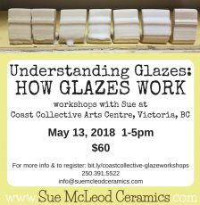 Understanding Glazes: How Glazes Work – workshop May 13, 2018