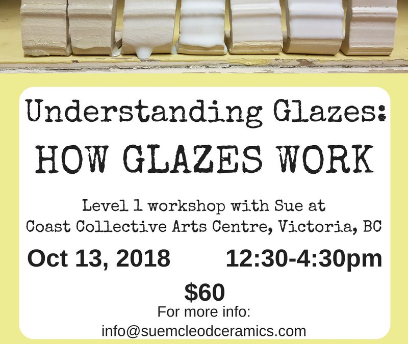 Understanding Glazes: How Glazes Work-shop Oct 13, 2018